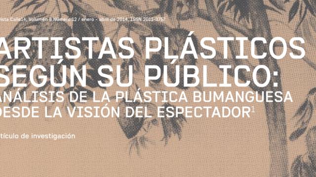 Artistas plásticos según su público por Juliana Silva y Andrés L. Caballero